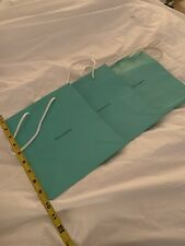 "Three Tiffany & Co Medium Gift Bags 9.75""x 8"""