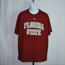 "Under Armour Burgandy ""Florida State"" Loose Fit Athletic Shirt Men's Sz Xl"