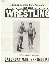 RARE WRESTLING PROGRAM  QUINLAN TEXAS  MARCH 28 1981    -  6/4