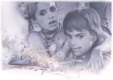 A Tsuneo Sanda Signed Original Luke & Slave Leia Art ~ Star Wars Celebration VII