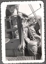 Vintage 1940-50S Astoria Oregon Fishing Boat Seine Net Wolf Eel Floats Old Photo