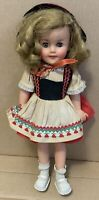"15"" SHIRLEY TEMPLE Doll IDEAL Sleep Eyes ST-15-N Heidi with Outfit Vintage cute"
