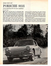 1967 PORSCHE 911S  ~  ORIGINAL 4-PAGE ROAD TEST / ARTICLE / AD