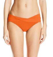 Robin Piccone Womens Swimwear Ava Twist Cuff Orange Bikini Bottom Size S
