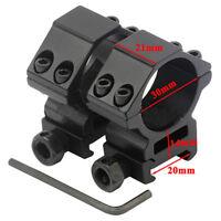 30mm Ring Scope Mount For Flashlight Laser Sight Fit 20mm Weaver Picatinny Rail