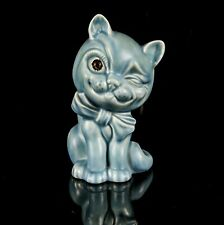 CROWN DEVON -FELIX THE CAT- ART POTTERY CERAMIC FIGURE MODEL 103-3, BLUE