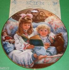 NIGHT-TIME STORY Sandra Kuck BAREFOOT CHILDREN Doll Collector Plate New COA