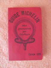 Guide Rouge Michelin - Edition 1900 - Réimpression - Très bon état