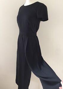 NEW JCREW $148 Drapey wrap-back jumpsuit Size 14 Black H6966