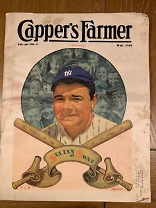 "1935, Babe Ruth, ""Capper's Farmer"" Magazine (Scarce)  New York Yankees"