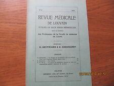 Revue Médicale de Louvain N°4 1932 Les vénules