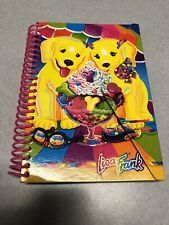 Lisa Frank Snap Notebook Spiral Bound Cardboard Cover Yellow Dogs Vintage