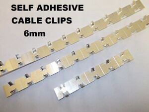 Aluminium Cable Clips Self Adhesive Sizes 6mm Cable Tidy
