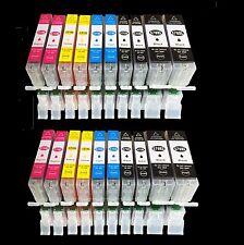 20x CARTOUCHES D'Encre pour Canon Pixma Mg 5750 5751 5752 5753 6800 6850 6851