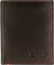ORIG. ZIPPO MOCCA BROWN LEATHER WALLET COIN CARD HOLDER MEN'S ** NEW IN BOX **