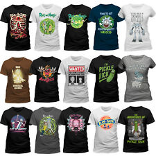 Official Rick And Morty T-Shirt Pickle Rick Get Schwifty Spiral Portal Mens Tee