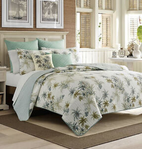 NEW Tommy Bahama Serenity Palms Reversible Twin Comforter Quilt Retail $99