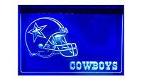 Dallas Cowboys Neon LED Sign Light Bar Pub Man Cave NFL Football USA shipper