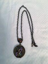 Vintage Gold-Tone DONA Locket Pendant Necklace Signed GUC