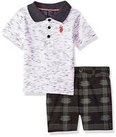 US Polo Assn Boys S/S Polo 2pc Short Set Size 2T 3T 4T 4 5/6 7