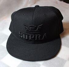 SUPRA ABOVE SNAP CAPPELLO,BERRETTO,ADJUSTABLE HAT,ORIGINAL,BLACK,CAP,NEW