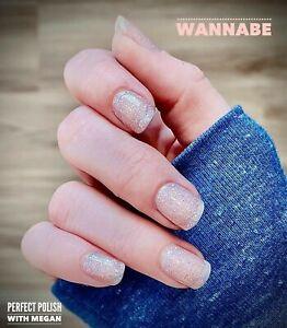 "3GoColorStreet WANNABE Nail Strips NEW Glitter Overlay RETRO POP + ""FREE TWOSIE"""