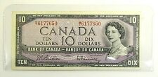 BANK OF CANADA - 1954 $10 - CURRENCY COINS / BULLION