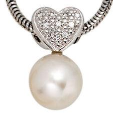 Unbehandelter Echtschmuck aus Weißgold mit Perle