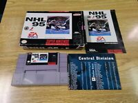NHL 95 Super Nintendo SNES Video Game Complete in Box
