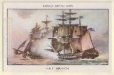 HMS Shannon Royal Navy Frigate Warship 1813  60+ Y/O Ad Trade Card