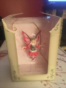 2002 Amy Brown Fairy Divas Collection Christmas Candy Cane Diva #87831