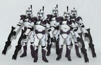 "Lot of 5 Star Wars BMF Battalion Purple Clone Trooper 3.75"" Loose Action Figure"