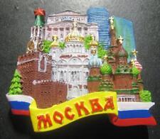 MOSCOW RUSSIA KREMLIN CHRIST SAVIOUR ST BASIL CHURCH 3D FRIDGE MAGNET NEW SEALED