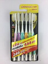6X SYSTEMA Original Toothbrush Super Soft Slim Bristles Flexible Spring Brushes