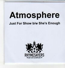 (CZ148) Atmosphere, Just For Show / She's Enough - 2011 DJ CD