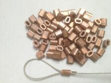 10x Copper Talurit Ferrules for 1mm /1.5mm Stainless Steel Wire Rope Rigging
