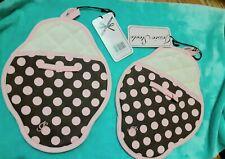 New listing Lot Of 2 Jessie Steele Brown & Pink Polka Dot Pot Mitts Nwt