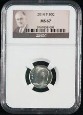 2014-P 10C Roosevelt Dime - NGC MS 67 - Roosevelt Label