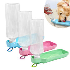 Dog Travel Water Bottle Dispenser Foldable Portable Outdoor Dog Bowl 250ml 500ml