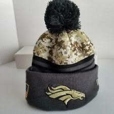 Brancos New Era Digital Camo Camouflage Lined Pom Knit Beanie Hat Cap One Size