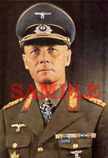 German WW 2 General Erwin Rommel Colorized Photo 8 X 10 Reproduction