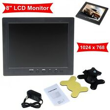 "8"" TFT LCD 1024x768 Color Monitor Screen VGA BNC DC 12V For PC CCTV Camera DVD"