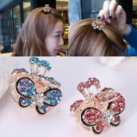 Gifts Claw Barrette Crystal Rhinestone Hair Clip Claw Mini Butterfly Hairpins