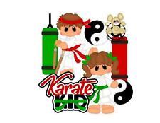 Karate Scrapbook die cuts Embellishment Piecing Children Card making