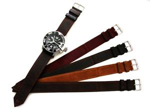 1pc NATO Liberator Military WW Bomber leather Bund watchband RAF strap IW SUISSE