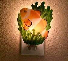 Ibis & Orchid( Clownfish ) Retired Night Light Hand Painted Molded Marble