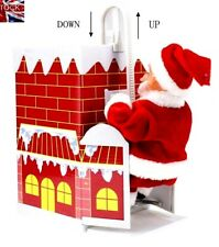 Santa Climbing on Rope Ladder Outdoor INDOOR  Christmas Garden Decoration