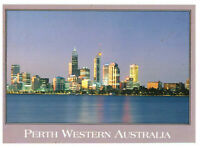 Perth Western Australia: City by The Swan River Rare Postcard Posted 1995