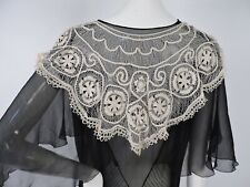 Antique 19Th C Hand Made Hairpin Lace Collar For Dress