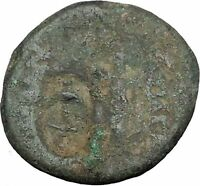 APAMEIA in SELEUKIS and PIERIA Athena Nike Anchor Countermark Greek Coin i50332